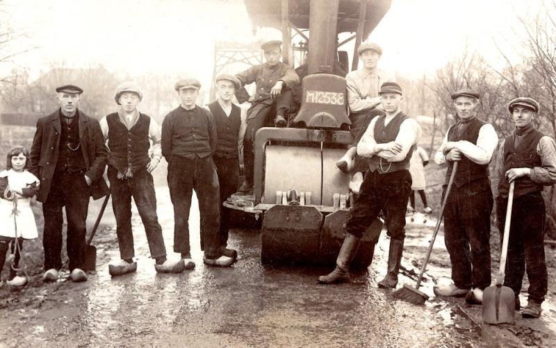 Verharding Provinciale weg Denekamp-Lattrop 1924