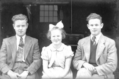 Vlnr Gait, Rikie en Bennie Olde Meule Agelo (Foto archief Gerard Wigger in Lattrop)