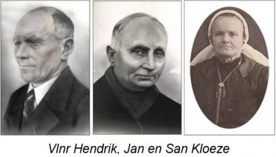 Vlnr Hendrik, Jan en San Kloeze in Berghum
