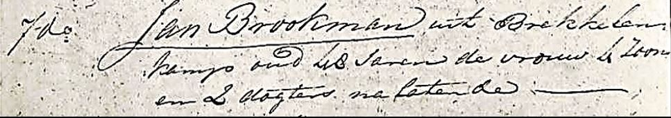 Volkstelling 1795 Jan Broekman 10 personen