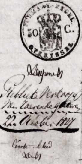 Wigger Lattrop Publieke verkoop van roerende goederen 1827
