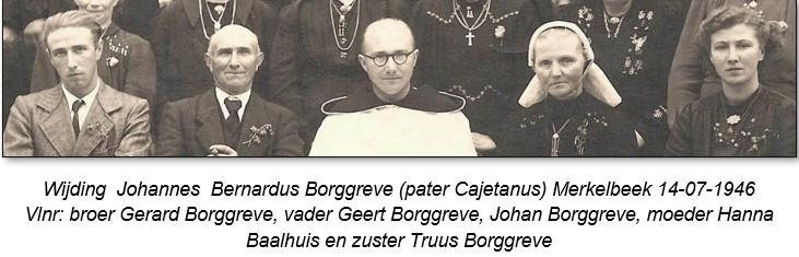 Wijding Johannes Bernardus Borggreve (pater Cajetanus) in Merkelbeek 14-07-1946