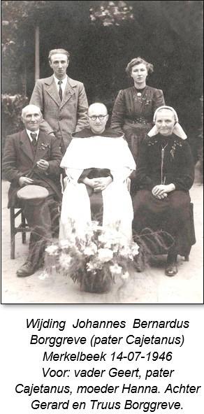 Wijding pater Cajetanus Borggreve in Merkelbeek 14-07-1946