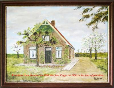 Woonhuis  Fam Keuters tot 1948 (eigenaar Fam Hofste), dan fam Pegge tot 1958, in dat jaar afgebroken