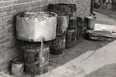 Zelfgemaakte stookinstallatie voor sterke drank