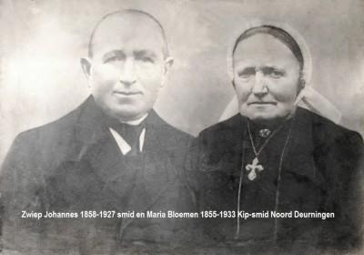 Zwiep Johannes 1858-1927 smid en Maria Bloemen 1855-1933 Kip-smid Noord Deurningen
